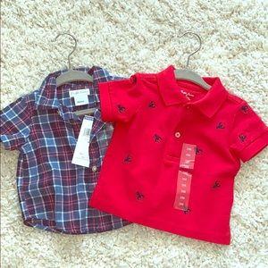 Ralph Lauren boys shirts sz. 3 months NWT